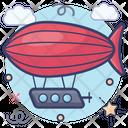 Blimp Drigible Spaceship Icon