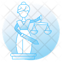 Blind Justice Statue Icon