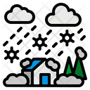 Blizzard Snow Weather Icon