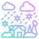 Blizzard Snow Weather Icon
