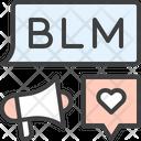 Blm Solidarity Message Icon