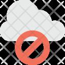 Block Cloud Blocked Icon