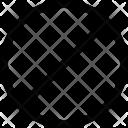Block Black White Icon