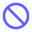 Block Forbidden Forbidden Sign Icon