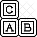 Block Kindergarten Alphabet Blocks Icon
