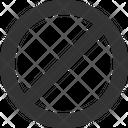 Block Band Ban Icon