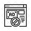 Blocked Ads Web Icon