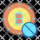 Block Block Bitcoin No Bitcoin Icon