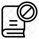Block Book Banned Icon