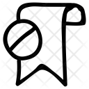 Block Bookmark Icon