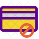 No Cards Banking Icon