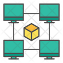 Block chain network Icon