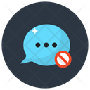 No Chat No Message Chat Ban Icon
