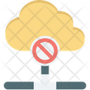 Block cloud data Icon