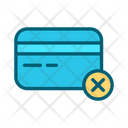 Block Credit Card Block Card Reject Card Icon
