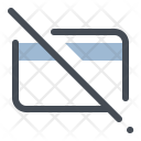Block Credit Card Sale Icon