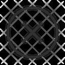Block Delete Cancel Failure Round Icon