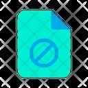 Block Document Icon