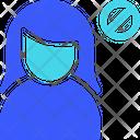 Block Female User Icon