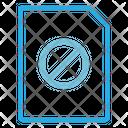 Block File Block Document No Document Icon