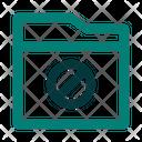 Block File Folder Icon