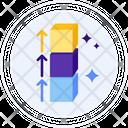 Block Height Block Boxes Icon