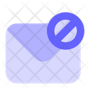 Block Mail Block Email Block Message Icon