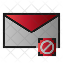 Block Mail Icon