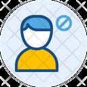 Block Male User Icon