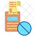 Block Payment Bill Icon