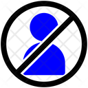 Block People Relationship Icon