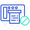 Iblock Print Block Print Block Fax Icon
