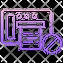 Block Print Icon