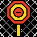 Block Sign Minus Sign Icon