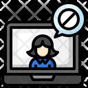Block User Computer Electronics Icon