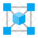 Blockchain Fintech Cryptocurrency Icon