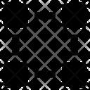 Blockchain Stand Structure Graphic Design Icon