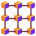 Blockchain Technology Network Icon