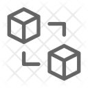 Blockchain Cube Cryptocurrency Icon