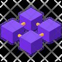 Blockchain Connection Relationship Icon