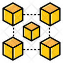 3 D Connected Blockchain Blockchain Cryptocurrency Icon