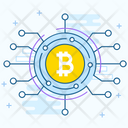 Blockchain Bitcoin Network Digital Currency Icon