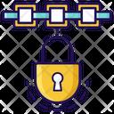 Blockchain Locked Blockchain Blockchain Security Icon