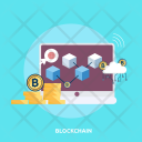 Blockchain Finance Bitcoin Icon