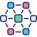 Block Chain Decentralized Distributed Icon