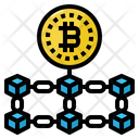Blockchain Network Bitcoin Icon