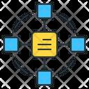 Blockchain Business Bank Icon