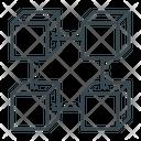 Blockchain Box Data Icon Icon