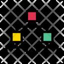 Blockchain Hierarchy Network Icon
