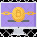Computer Monitor Bitcoin Icon